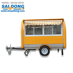 Heavy Duty Mobile Catering Trailer Food Market Stall for sale