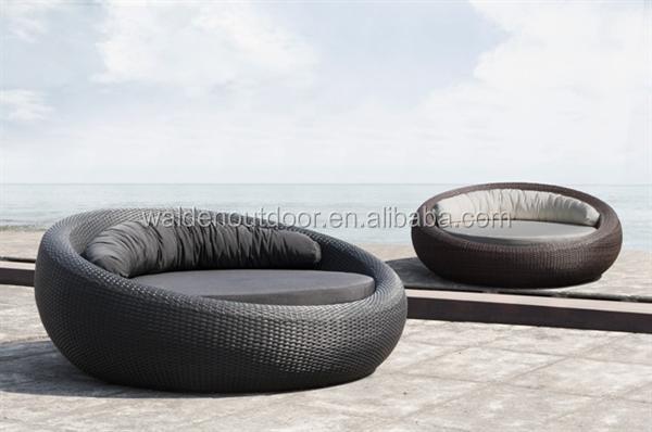 Nieuwe bali outdoor tuinmeubelen rotan zwembad ligstoel - Lit sofa rond exterieur ...