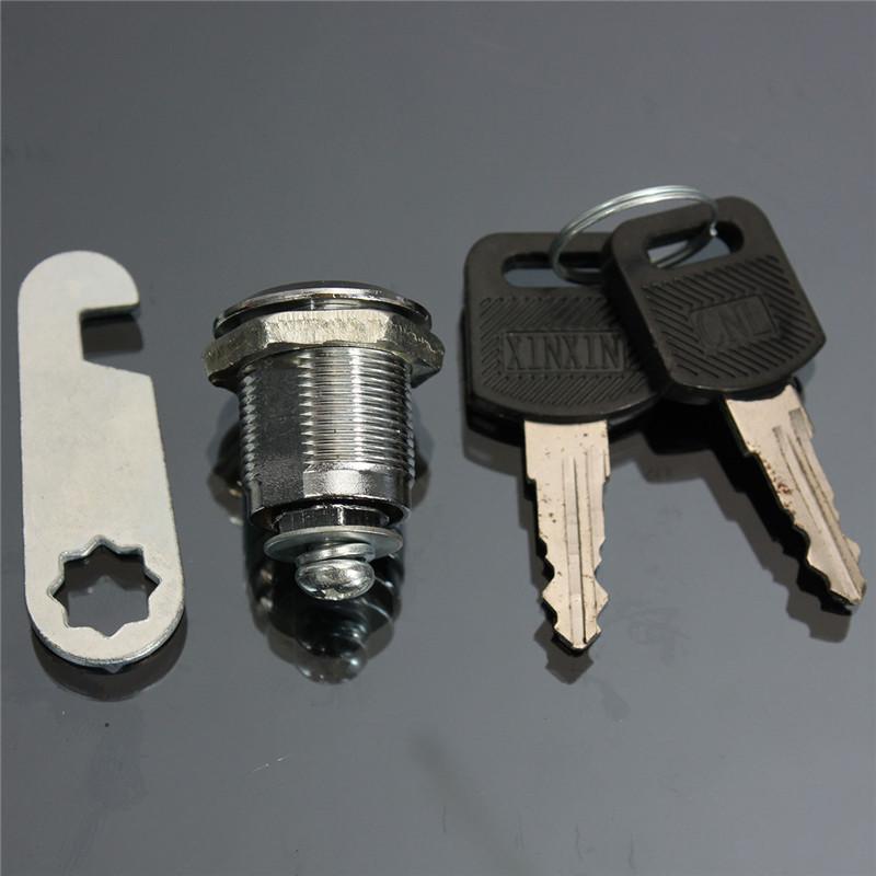 Серебряный тон 20 мм / 25 мм / 30 мм подарок замок с 2 ключи для кабинета почта ящика шкаф шкафчик ю . г .