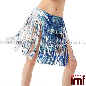 4cc05f57bd878 Women s Elastic Waist Crochet Mini Skirt Tassel Fringe Beach Cover up Skirt