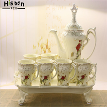 Europese Afternoon Tea Koffiekopje Set Bone China Luxe <span class=keywords><strong>Engels</strong></span> Cup Schotel Keramische Thee Set Met Dienblad
