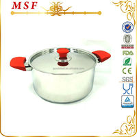 MSF 24cm stock pots well equipped kitchen cookware with red knob and handles