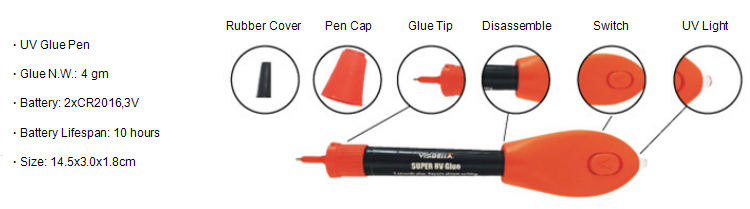 5 Second Fix UV Pen Glue, Seal Repair Anything
