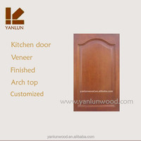 arch top oak wood kitchen cabinet only wooden doors design