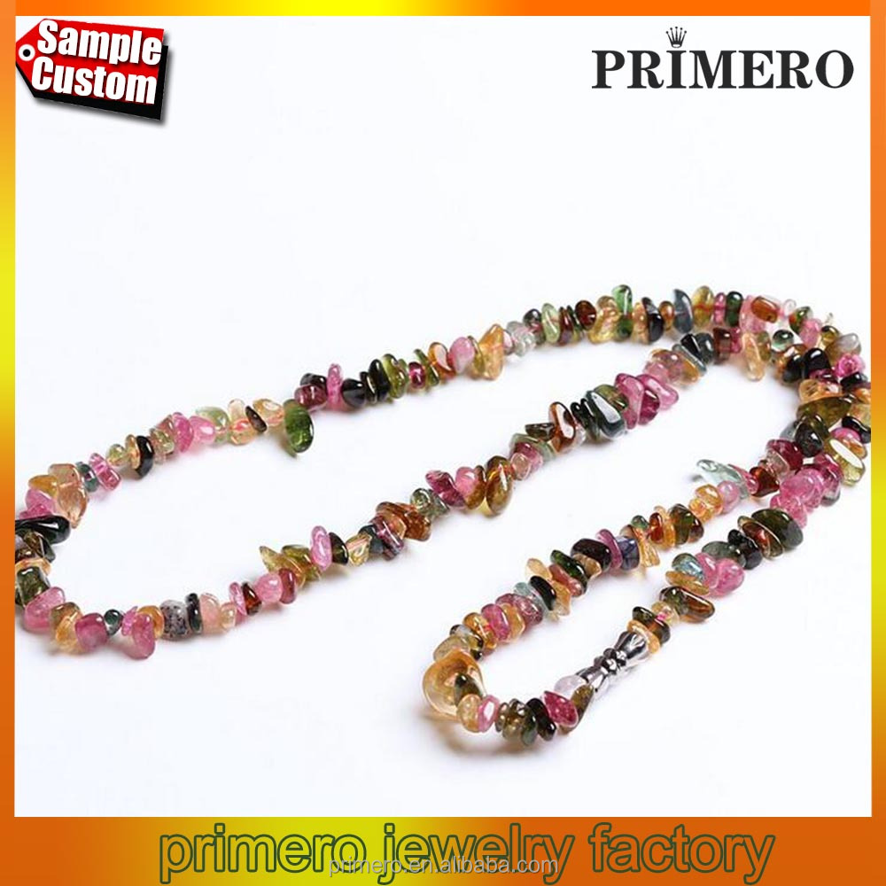 Natural tourmaline gravel Beads Diy Bracelet Necklace For Baby Teething Jewelry