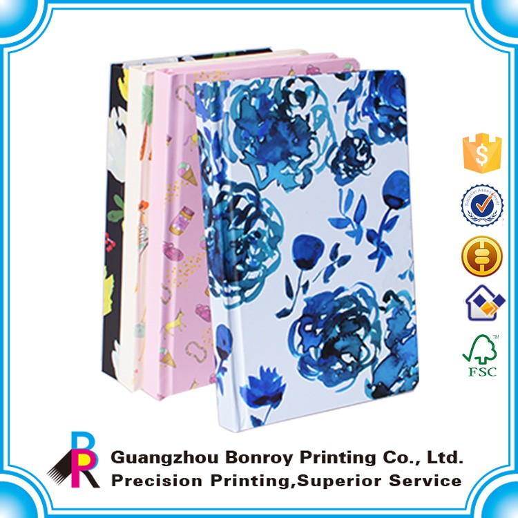 Recycle Custom Printing Hardcover A5 Leather Gift Notebook Set