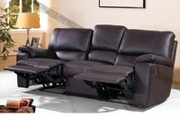 decoro leatherecliner sofa in purple genuine leather