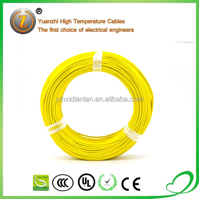 UL3122 200 Degree 300V Fiberglass Braid Silicone Rubber Insulation Wire
