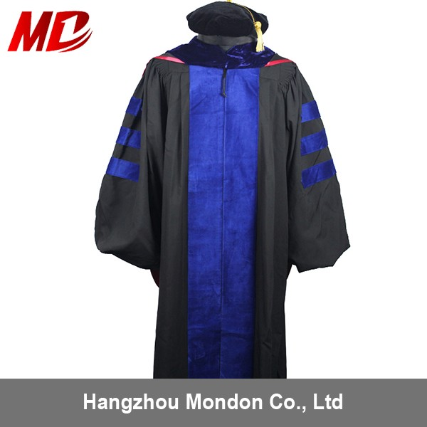 doctoral graduation gown package -- gown,hood,tudor bonnet