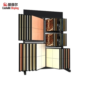 Book Page Ceramic Tile Metal displays Marble Stone Sample Rack Stands