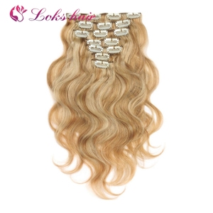 human ombre colored hair clip in hair extensions for african american white black women