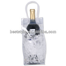 High quality vinyl wine bottle carrier wine cooler bag