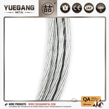 Foreign trade wholesale Origin of goods Good stability 1*7 galvanized wire rope