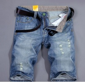 F70092Q Han edition cultivate one's morality men in cowboy pants denim shorts