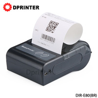 Dprinter 80mm Wireless Portable Bluetooth Mini Thermal Receipt Printer Mobile Printer for Android/iOS 90mm/s