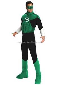 green adult lantern halloween men tall design male popular feature adults large costumes carnival costume QAMC-9073
