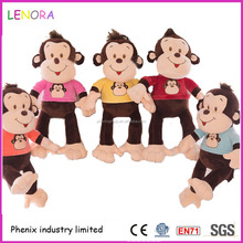 New product china plush toy laugh monkey with long leg cute smeil monkey design plush toy