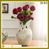 2016 Ceramic porcelain Cheap Decorative Gold Plated Vase with artificial rose flower home decor