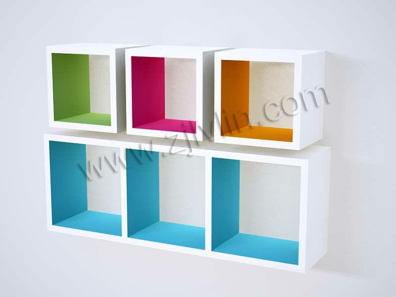 Delightful Etagere Murale Cube Ikea #11: Mdf Cube étagère Murale, Couleur Intérieure Cube Plateau, Tablette Flottante