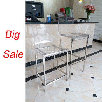 Modern Bar High Chair Clear Lucite Acrylic Bar Stool