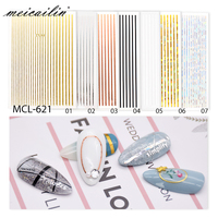 3D Nail Sticker Curve Stripe Lines Adhesive Striping Tape Manicure Nail Art Stickers