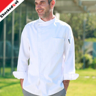 2018 High Grade New Restaurant long sleeve Chef Coats Jackets White Unisex chef uniform for cooker