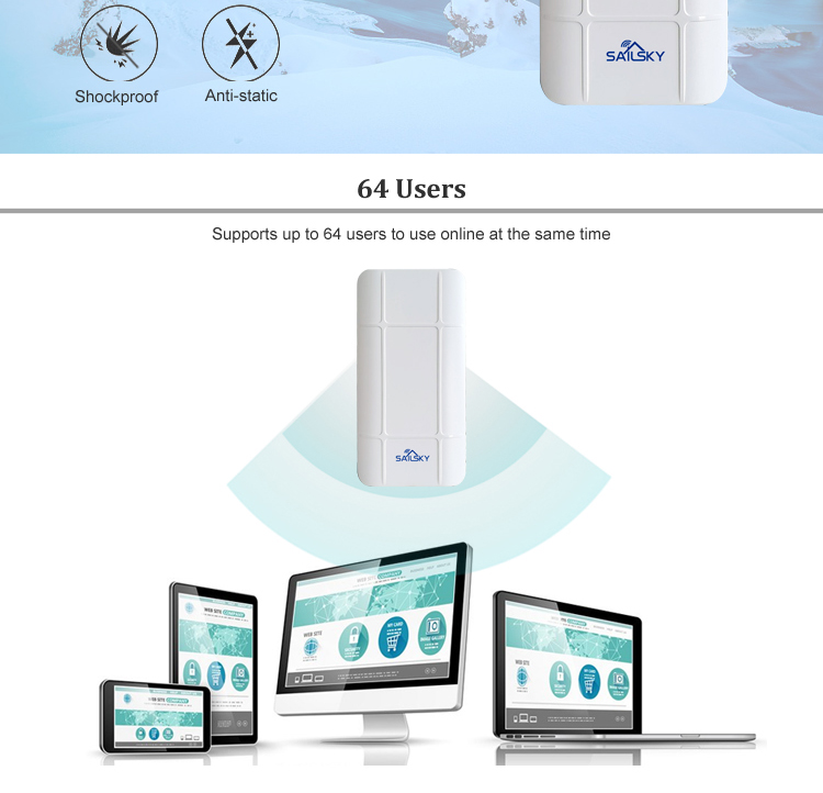 Sailsky 300 Mbps 야외 CPE 긴 Range 점 에 점 Wireless Access Point 교 SY205