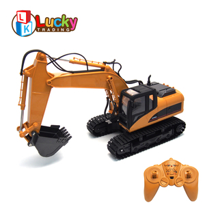 new arrival battery charging simulate model vehicle real alloy 1 14 rc excavator for kids