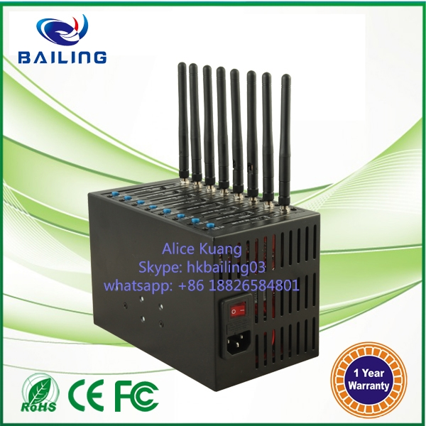 Low price multi sim card Q2406B GSM GPRS 8 port modem pool bulk sms sending device Imei change modem