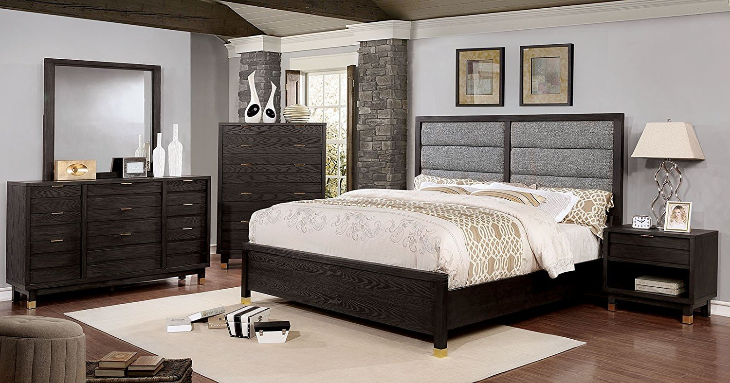 Buy Esofastore Bailey Collection Contemporary Panel Style