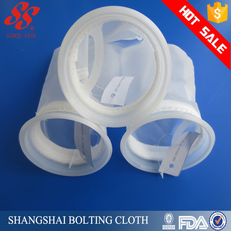 High quality nylon screen mesh drawstring filter bag for water filtration