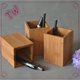 China factory supply office stationery items names top quality doctor pen holder wholesale bamboo pen holder