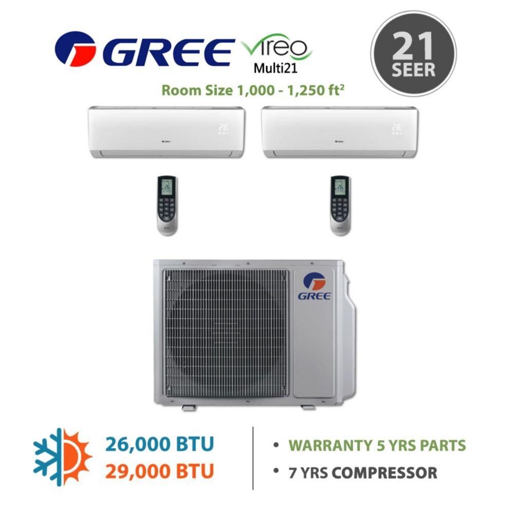 Buy Gree MULTI24BDUCT203 - 24,000 BTU Multi21 Dual-Zone