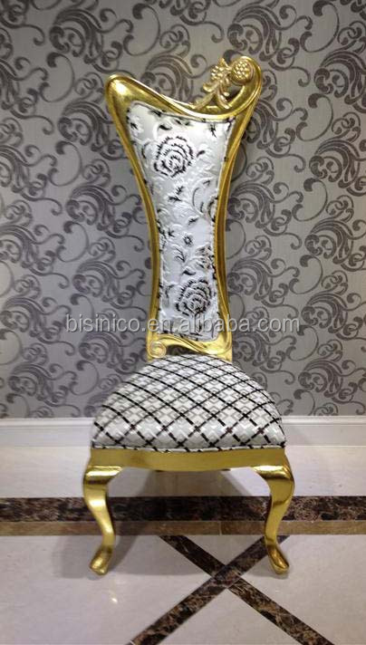 Luxury Gold Foil High Back Sofa Chair Exquisite Wood