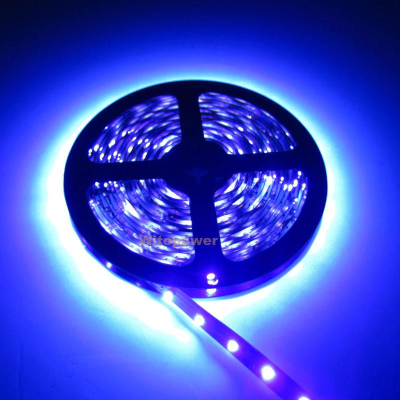 5m uv ultraviolet 395nm 5050 smd purple 300 led flex strip light np 12v in led strips. Black Bedroom Furniture Sets. Home Design Ideas