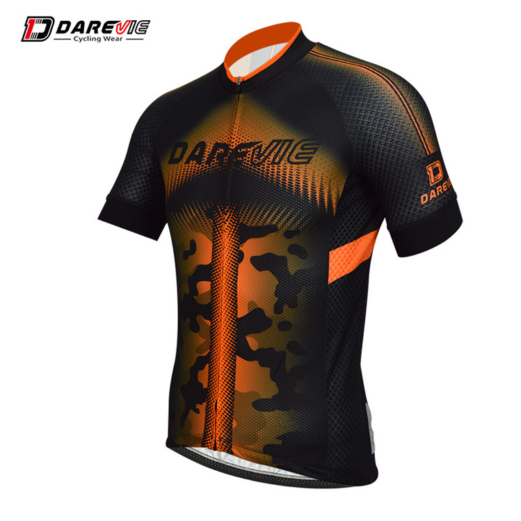 Direct Manufacturer Short Sleeves Orange Cycling Top/Black And Orange Cycling Jersey