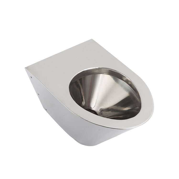 Cheap Professional Wall Hang P-Trap Stainless Steel Toilet Pan