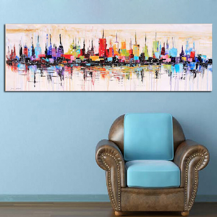 New York City Picture Canvas Painting Modern Wall Art: New York City Picture Canvas Painting For Living Room Wall