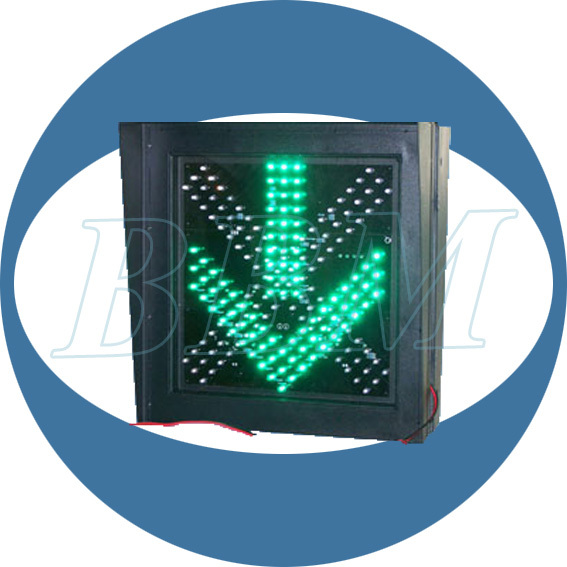 400mm driveway red cross green arrow traffic led light