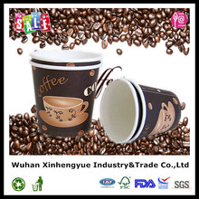 4oz Custom Logo Printed Disposable Paper Cups for Coffee with PS Lids