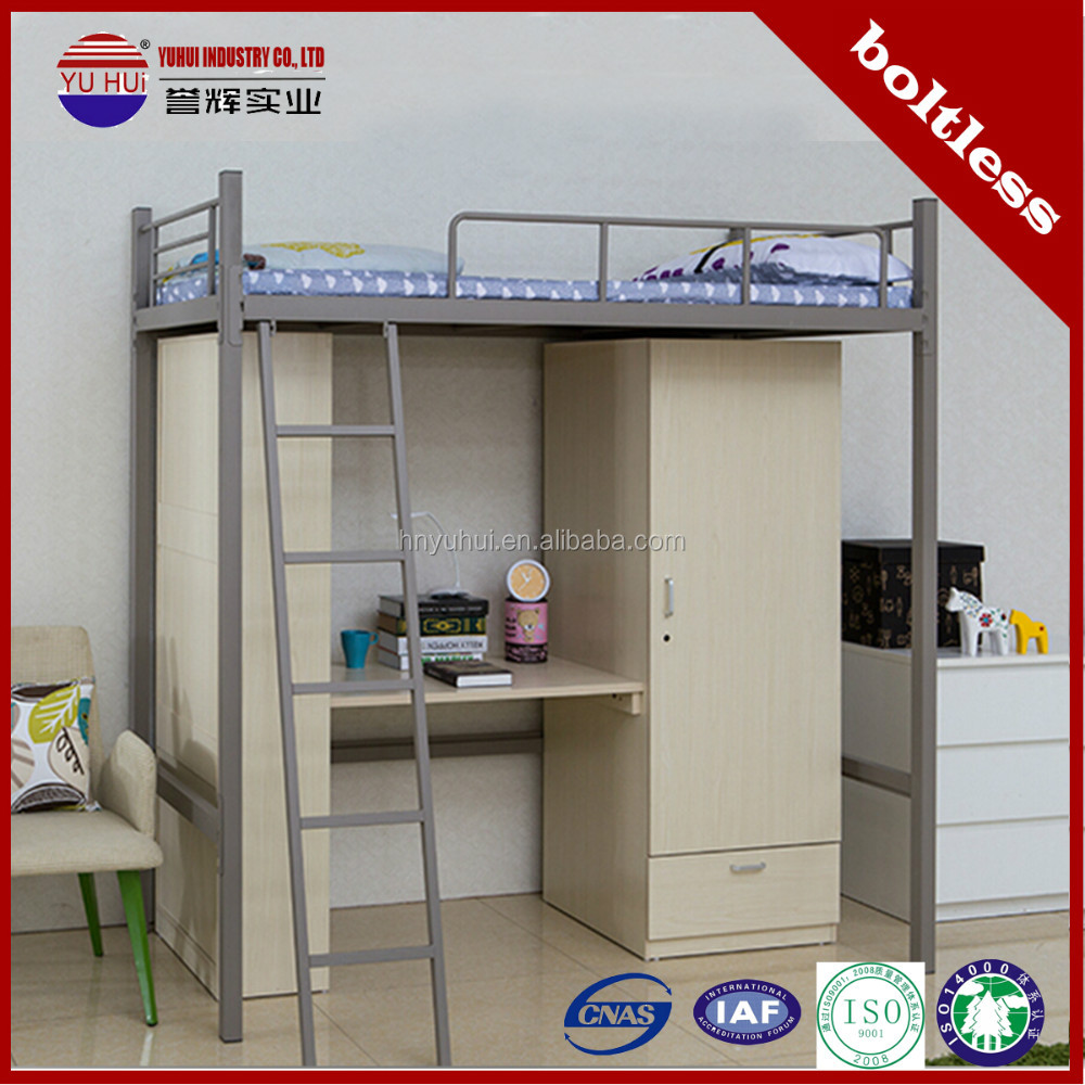 Cama litera con escritorio debajo barato camas literas for Camas con cajones debajo