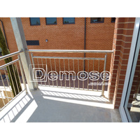 balcony galvanized stainless steel pipe railing design