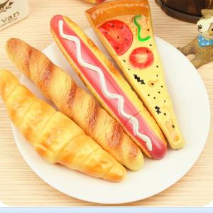 Pizza, Bread, Hot Dog & Ice Cream Ball-Point Toy Pen with Magnet Funny Magnetic Refrigerator Ball Pen