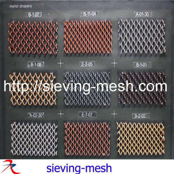Braid Woven Architectural Mesh For Facade Cladding Decorative ...