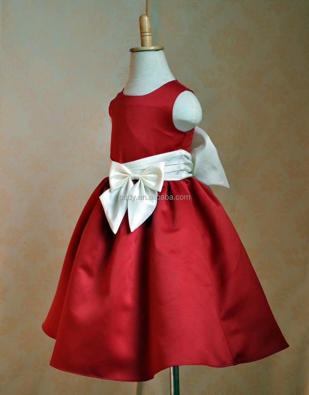 21549a770 Vestido De 2015 Para Navidad Vestidos Festival Bebé De Satén Chicas 54Lqj3AR