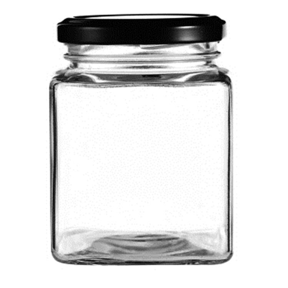 50ml 80ml 100ml 200ml 150ml 200ml 280ml 380ml 500ml 700ml square glass jars for honey with lid