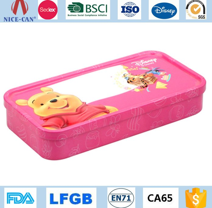 China Factory Manufacturer Nice-can Direct Supply Wholesale Children Pen Tin Box Factory Price Cheap Customized Pencil Tin Case