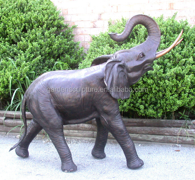 High Quality European Style Custom Outdoor Large Garden Antique Bronze  Elephant Fountain Sculpture