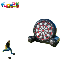 Soccer foot dart board inflatable dart game/inflatable soccer darts