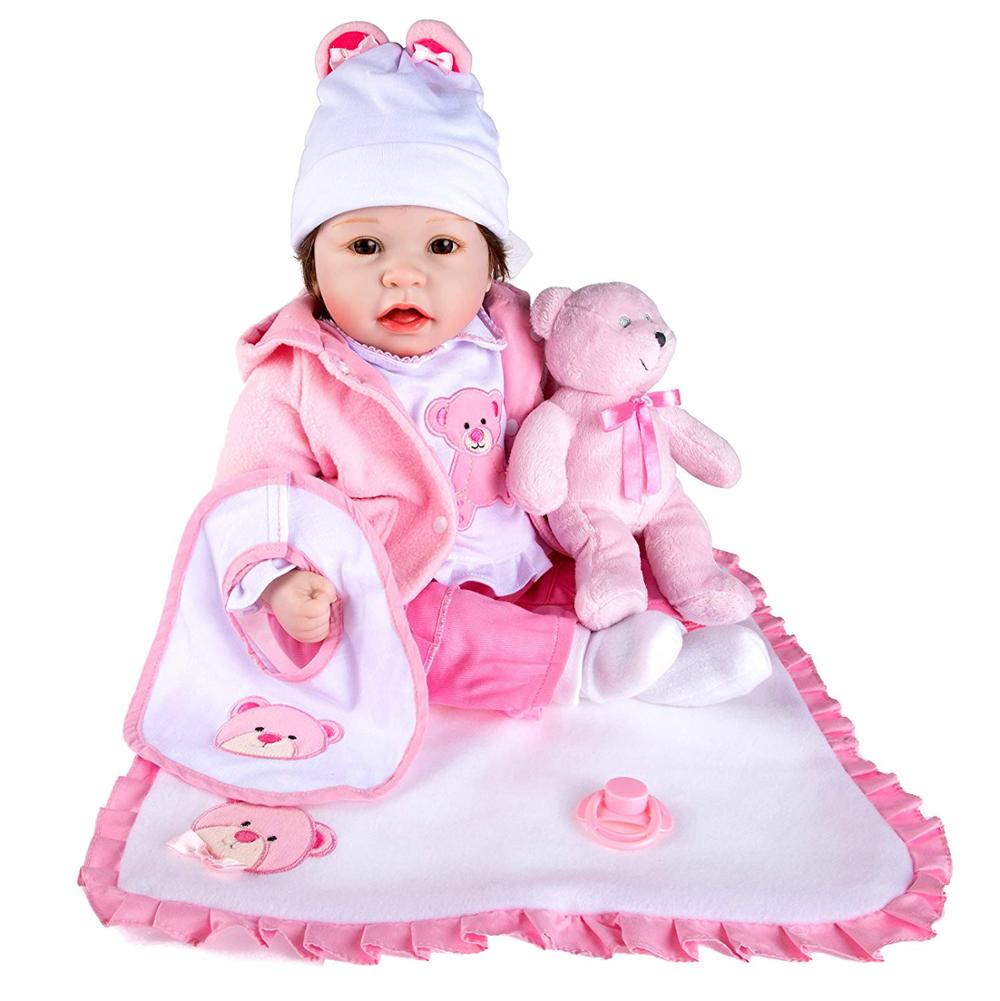 Rolimate Lifelike Realistic Baby <strong>Doll</strong>, Tall Dreams Gift Set Ensemble, 22-inch / 55cm Weighted Baby with Clothes and Accessories